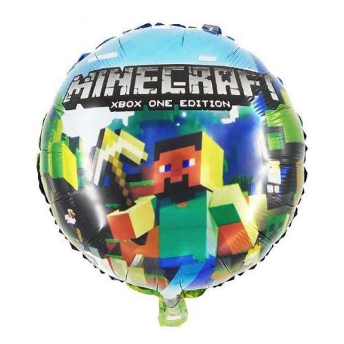 """Воздушный шар """"Стив с киркой"""" Майнкрафт (43 см)"""