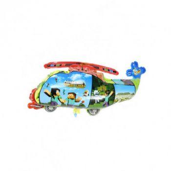 """Фольгированный шар """"Вертолет"""" Minecraft ( 70x42 см)"""