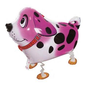 """Ходячий шар """"Собака Далматин"""" розовая"""