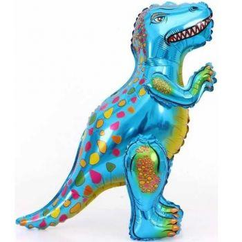 Ходячая фигура, динозавр Аллозавр, синий (64 см)