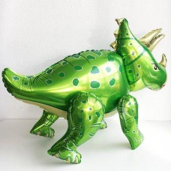 Ходячая Фигура, Динозавр Трицератопс, зелёный (91 см)