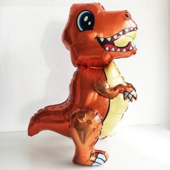 Ходячая Фигура, Маленький динозавр, Оранжевый (76 см)