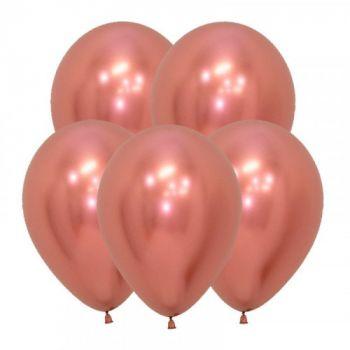 Латексные шары Розовое золото хром