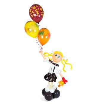 """Фигура из воздушных шаров """"Школьница"""""""