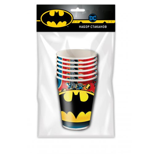 "Набор бумажных стаканов ""Бэтмен"" (250мл., 6шт)"