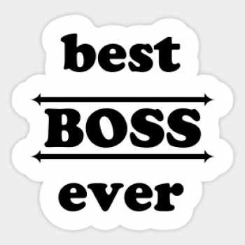 Наклейка best boss ever