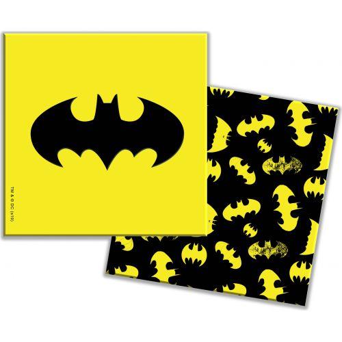 """Салфетки """"Бэтмен"""" - желтые 33см 12шт"""