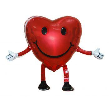 Ходячий воздушный шарик «Сердце» (48 см)