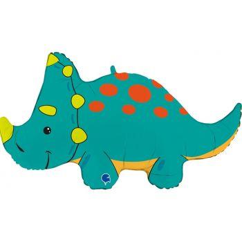 """Фольгированный шар динозавр """"Трицератопс"""" (91 см)"""