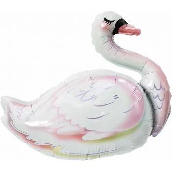 """Фольгированный шар """"Белый лeбедь"""" (83 см)"""