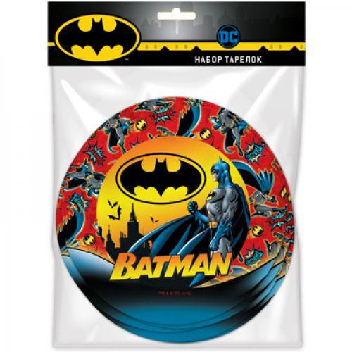 "Набор бумажных тарелок ""Бэтмен"" (18см, 6шт)"