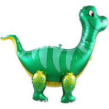 """Фольгированный ходячий шар """"Динозавр - Брахиозавр"""" (Зелёный, 64 см)"""