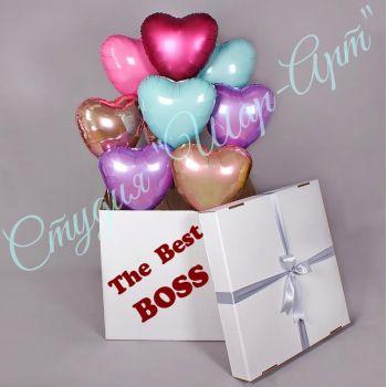 "Коробка шаров ""The best boss"""