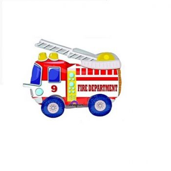 Ходячая Фигура Пожарная машина (52 x 132 см)