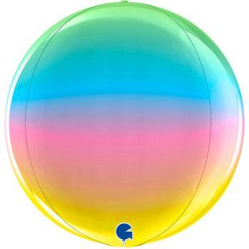 Шар  Сфера 3D, Радужный, Градиент (46 см)