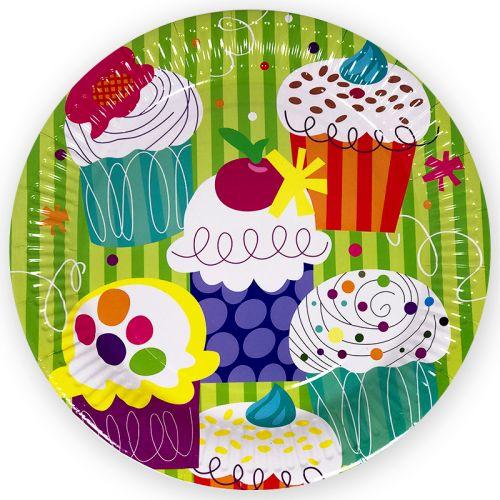 Тарелки (23 см) Пирожные, 6 шт.