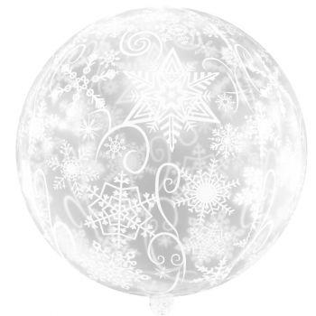 Шар Сфера 3D, Снежинки, Прозрачный (56 см)