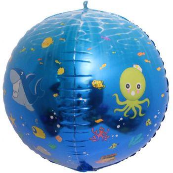 Шар Сфера 3D, Подводный мир (61 см)