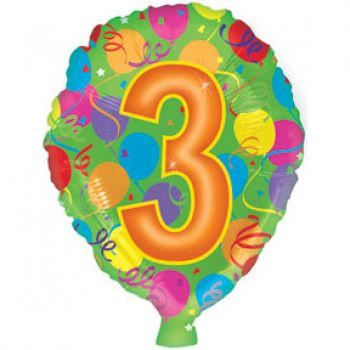 Воздушный шар цифра, 3  (46 см)