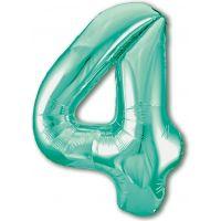 Шар цифра 4 Slim, Бискайский зеленый (102 см)
