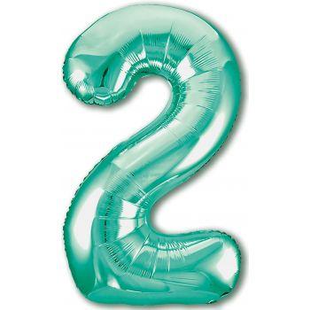 Шар цифра, 2 Slim, Бискайский зеленый (102 см)