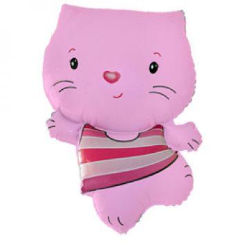 Фольгированный шар Фигура, Котенок, Розовый (76 см)