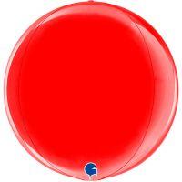 Шар Сфера 3D, Красный (46 см)