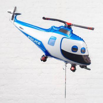 Фольгированный шар, Вертолет (Синий)