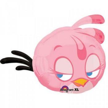 Фольгированный шар Angry Birds Розовая (63 см)