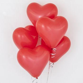 Сердце красного цвета (латекс, 30 см)