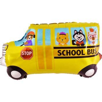 Фольгированный шар школьный автобус (84 см)
