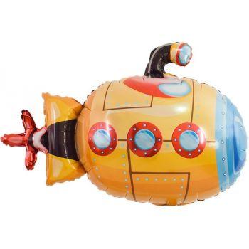 Фольгированный шар Подводная лодка, Оранжевый (97 см)