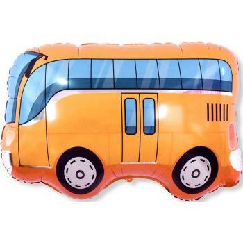 Шар автобус, Оранжевый, (86 см)