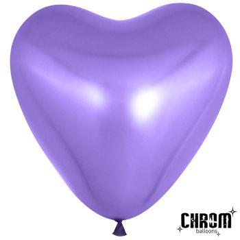 Сердца фиолетовые (латекс)