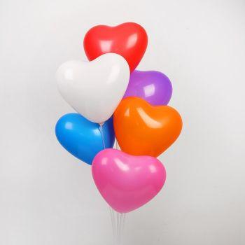 Сердца разноцветные (30 см)