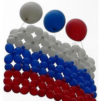 Флаг из шаров на трёх шарах гигантах