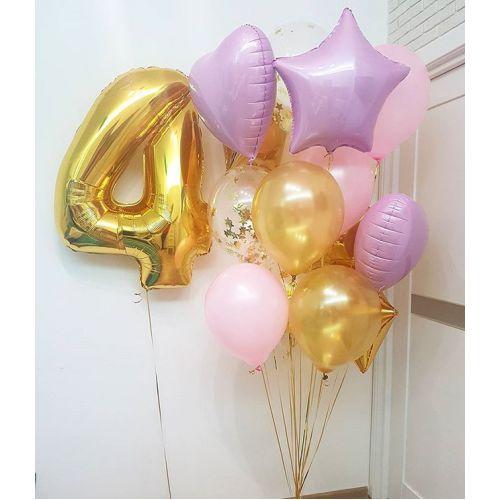 шарики девочке на четыре года с доставкой