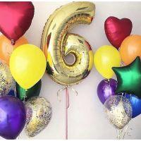 2 Сета из разноцветных шаров и цифра 6