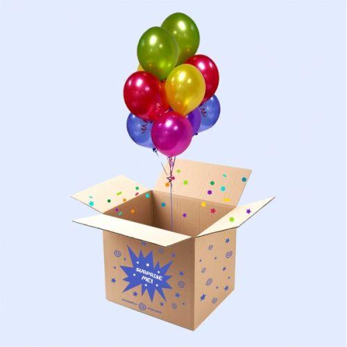 Коробка шаров с надписью