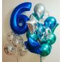 оформление шарами дня рождения 6 лет мальчику