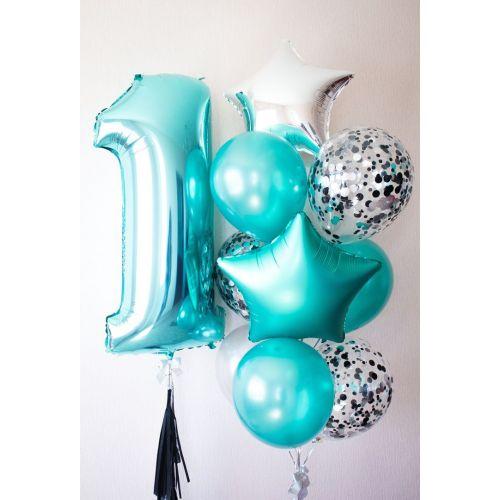Композиция воздушных шаров на день рождения