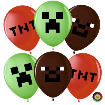 "Шарики ""Пиксели"" - цена за шар"