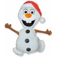 Фольгированный шар снеговик (86 см)