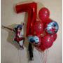 Связка воздушных шаров на день рождения