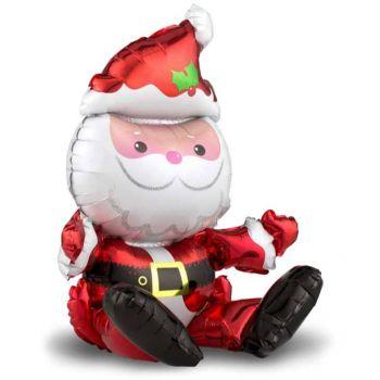 Фольгированный шар (51 см) Дед Мороз