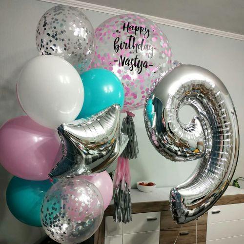 Как оформить праздник 9 летие воздушными шарами