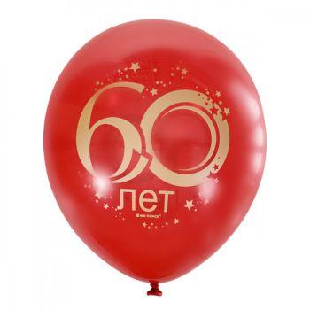 """Шарики """"Юбилей цифра 60, cherry red"""" (цена за шар)"""