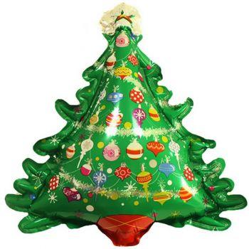 Шар (38''/97 см) Фигура, Новогодняя елка