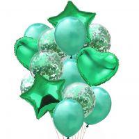 Набор зелёных шаров
