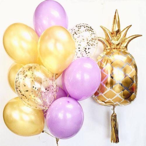 создаём красивые композиции из шаров с ананасом